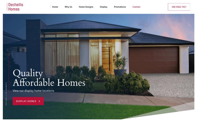Website Design for Home Builder in Adelaide